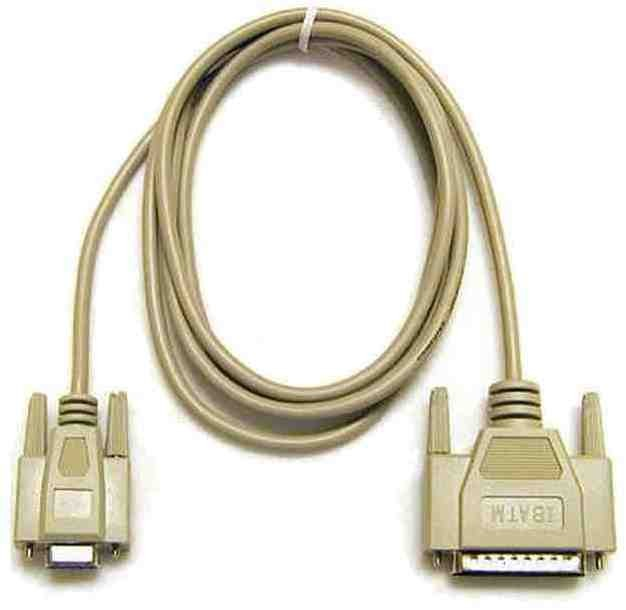 Serial data cable 9 pin - 25 pin