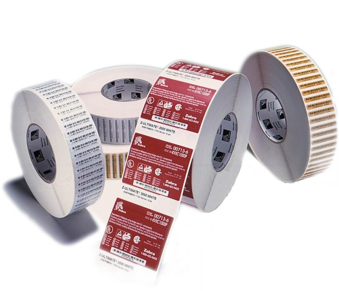 label roll, thermal paper, 74x24mm