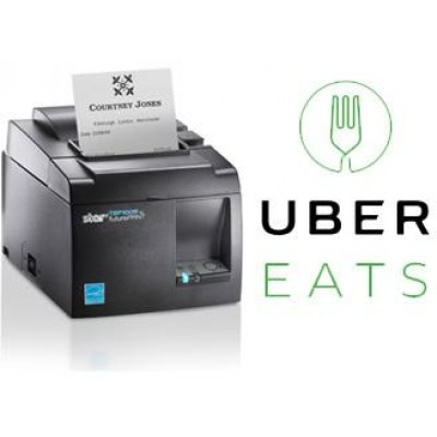 UBER EATS PRINTER - TSP143IIIBI, BT (iOS), 8 pts/mm (203 dpi), massicot, gris foncé