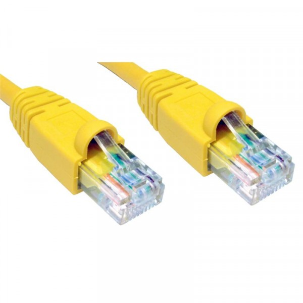 2M CAT5E UTP SNAGLESS jaune PATCH CABLE