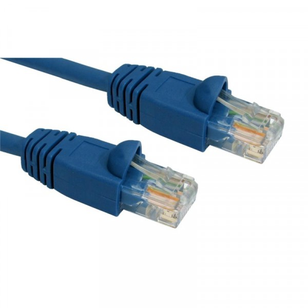 0.5M CAT5E UTP SNAGLESS BLUE PATCH CABLE