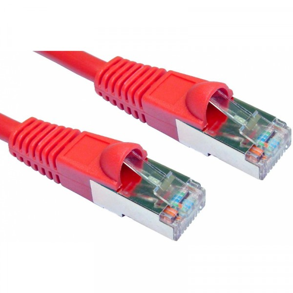 1M CAT5E FTP SNAGLESS RED PATCH CABLE