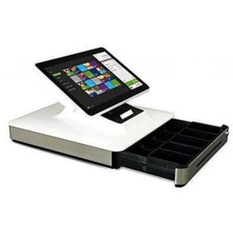 Elo PayPoint Plus, 39.6 cm (15,6''), Projected Capacitive, SSD, MSR, VFD, Scanner, Android, white